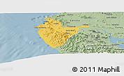 Savanna Style Panoramic Map of Santa Cruz