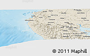 Shaded Relief Panoramic Map of Santa Cruz