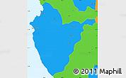 Political Simple Map of Santa Cruz