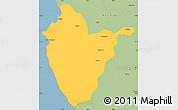 Savanna Style Simple Map of Santa Cruz