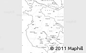 Blank Simple Map of Guanacaste