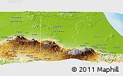 Physical Panoramic Map of Heredia