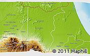 Physical 3D Map of Sarapiqui