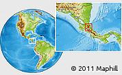 Physical Location Map of Sarapiqui, highlighted parent region