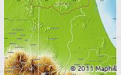 Physical Map of Sarapiqui