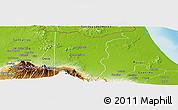Physical Panoramic Map of Sarapiqui