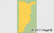 Savanna Style Simple Map of Heredia