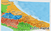 Political Shades Panoramic Map of Limon
