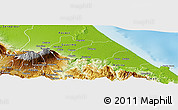 Physical Panoramic Map of Siquirres