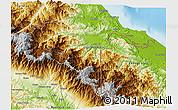Physical 3D Map of Talamanca