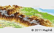 Physical Panoramic Map of Talamanca