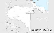 Silver Style Simple Map of Talamanca