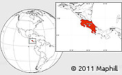 Blank Location Map of Costa Rica