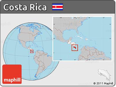 Free gray location map of costa rica highlighted continent within gray location map of costa rica highlighted continent within the entire continent publicscrutiny Gallery