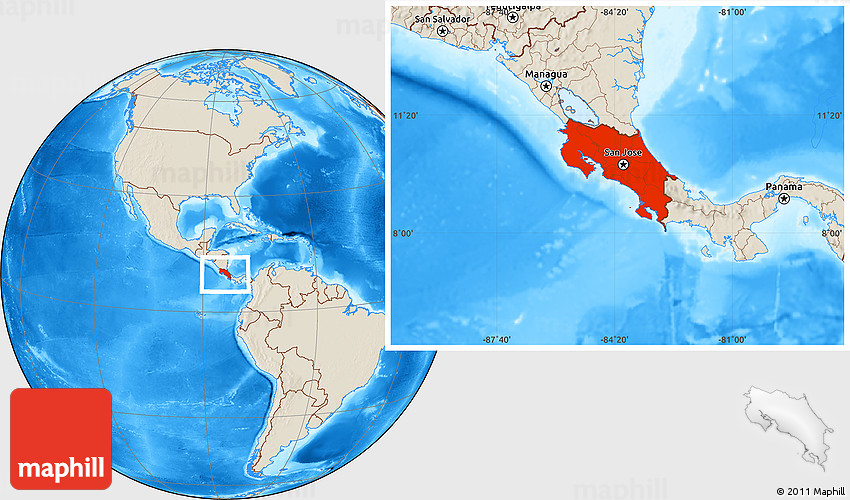 Shaded relief location map of costa rica gumiabroncs Gallery