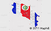 Flag Map of Costa Rica, flag aligned to the middle