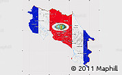 Flag Map of Costa Rica, flag rotated