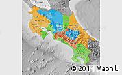 Political Map of Costa Rica, desaturated