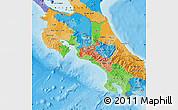 Political Map of Costa Rica