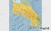Savanna Style Map of Costa Rica