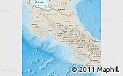 Shaded Relief Map of Costa Rica