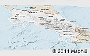 Classic Style Panoramic Map of Costa Rica