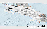 Gray Panoramic Map of Costa Rica