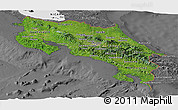 Satellite Panoramic Map of Costa Rica, desaturated