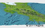 Satellite Panoramic Map of Costa Rica