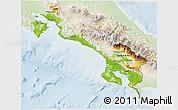 Physical 3D Map of Puntarenas, lighten