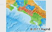 Political Shades 3D Map of Puntarenas