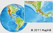 Physical Location Map of Garabito