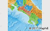 Political Shades Map of Puntarenas