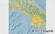 Savanna Style Map of Puntarenas