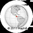 Outline Map of Puntarenas