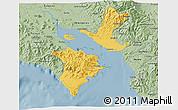 Savanna Style 3D Map of Puntarenas