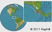 Satellite Location Map of Puntarenas