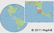 Savanna Style Location Map of Puntarenas