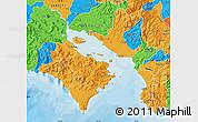 Political Map of Puntarenas
