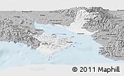 Gray Panoramic Map of Puntarenas