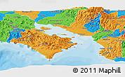 Political Panoramic Map of Puntarenas