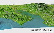 Satellite Panoramic Map of Puntarenas