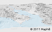 Silver Style Panoramic Map of Puntarenas