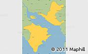 Savanna Style Simple Map of Puntarenas