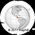 Outline Map of Alajuelita