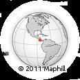 Outline Map of Montes De Oca