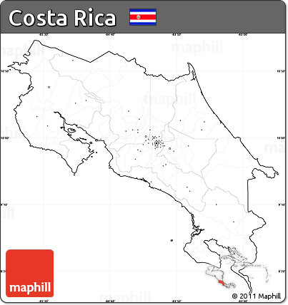 Free blank simple map of costa rica cropped outside no labels blank simple map of costa rica cropped outside sciox Choice Image