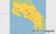 Savanna Style Simple Map of Costa Rica