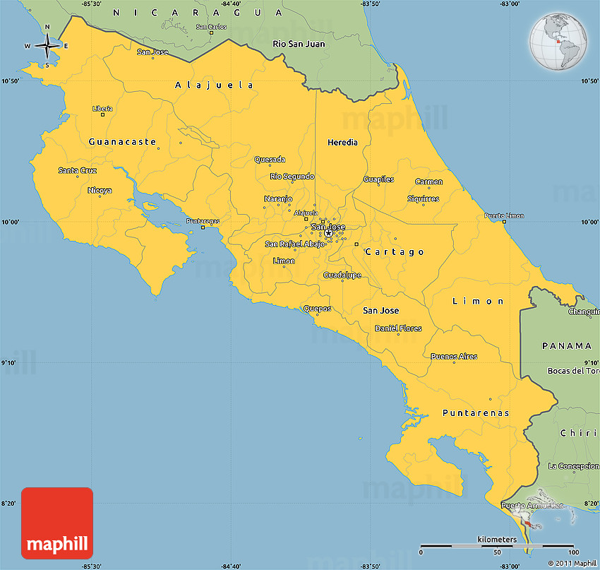 Savanna Style Simple Map of Costa Rica on spain map, peru map, guanacaste map, greece map, california map, belize map, equator map, panama map, western hemisphere map, united states map, italy map, carribean map, jamaica map, americas map, haiti map, canada map, southeast asia map, mexico map, cuba map, brazil map, bulgaria map, aruba map, chile map, angola map,