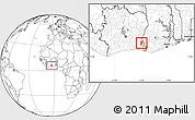 Blank Location Map of Bettie